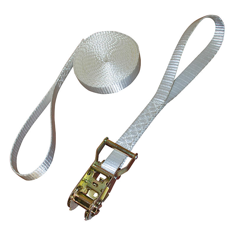 """1"""" x 15' Tent Ratchet Strap with 8"""" Loops"""