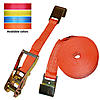 2 inch Orange Custom Ratchet Strap with Flat Hooks