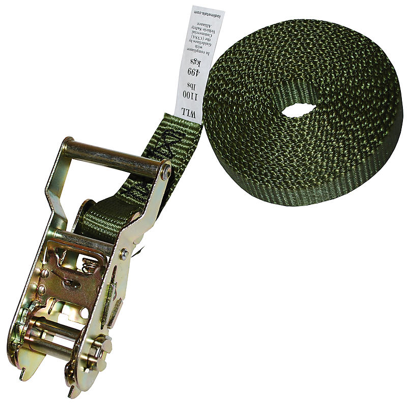 "1"" Olive Drab Heavy Duty Endless Loop Ratchet Strap"
