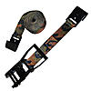 "2"" Camo Ratchet Strap with Flat Hooks - Black Long Wide Handle"
