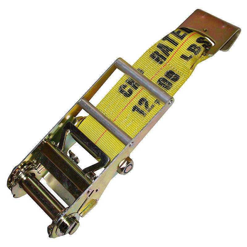 4 inch Ratchet Strap Short End with Flat Hook | RatchetStrapsUSA
