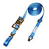 "1"" Heavy Duty Ratchet Strap w/ Wire Hooks & D-Rings"