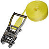 "2"" Heavy Duty Endless Loop Ratchet Strap Yellow Long Wide Handle"