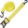 2 inch Custom Yellow Ratchet Strap with Vinyl S Hooks