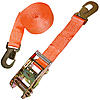2 inch Ratchet Strap with Flat Snap Hooks Orange
