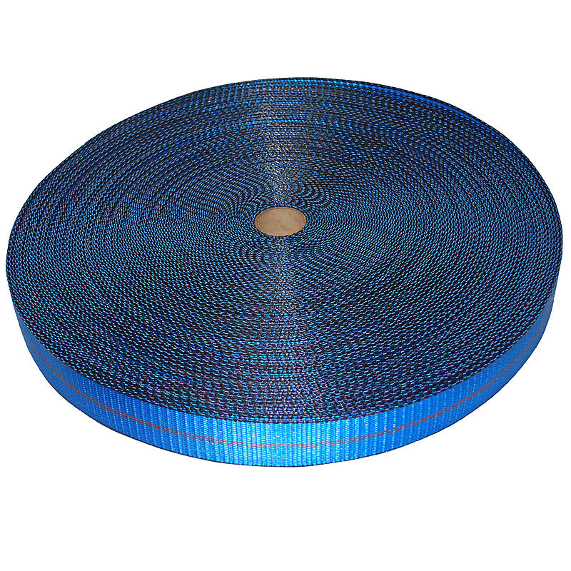 "2"" Blue Polyester Webbing with Edge Protection 