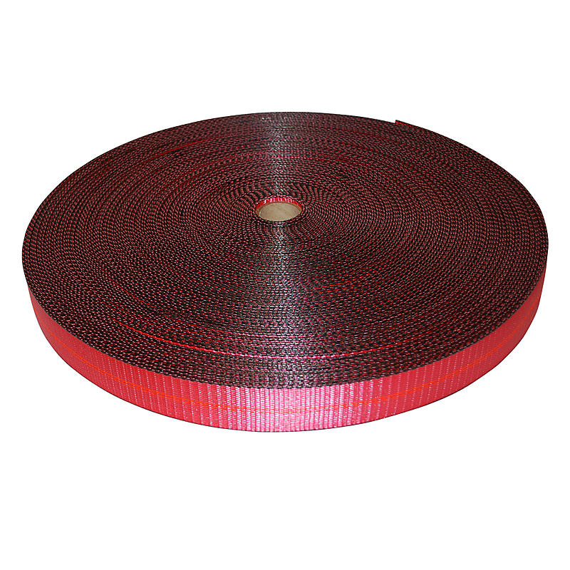 2 inch Red Polyester Webbing with Edge Protection | RatchetStrapsUSA