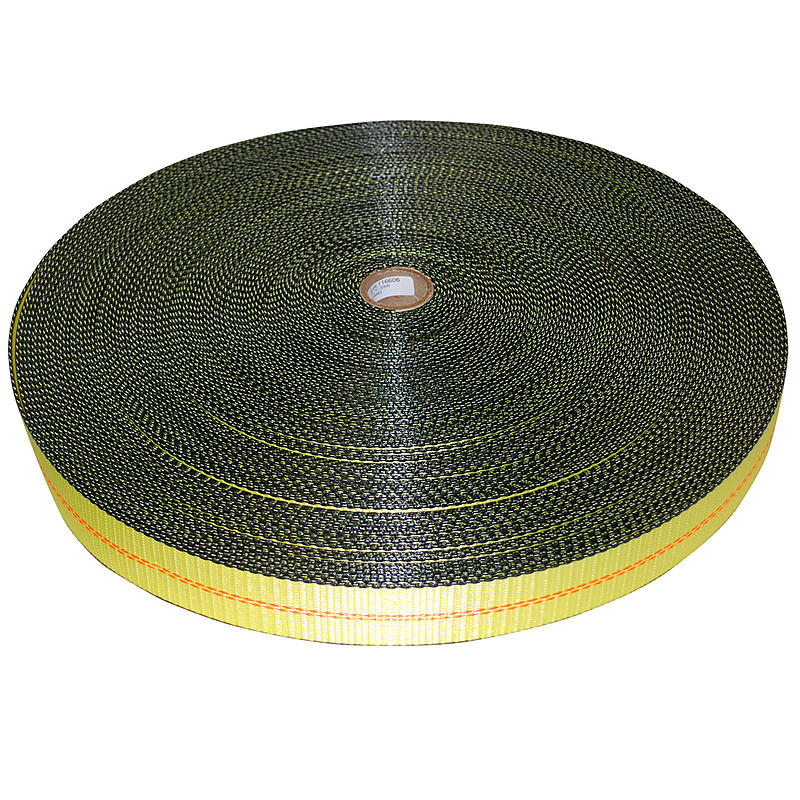 2 inch Yellow Polyester Webbing with Edge Protection | RatchetStrapsUSA