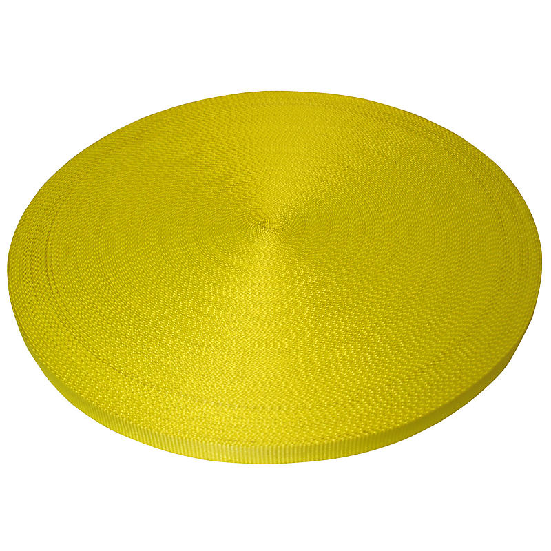 "1"" Yellow Polyester Web 6600 lbs | RatchetStrapsUSA"