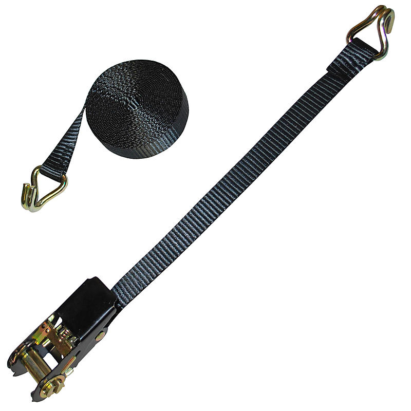 "1"" Light Duty Ratchet Strap with Wire Hooks"