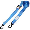 Blue 2 inch Cam Buckle Strap with Vinyl Coated S-Hooks