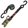 "1"" Ratchet Strap with S-Hooks CAMO with Gold Handle"