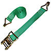 Green 2 inch Ratchet Strap with Wire Hooks 5,000 lbs | RatchetStrapsUSA