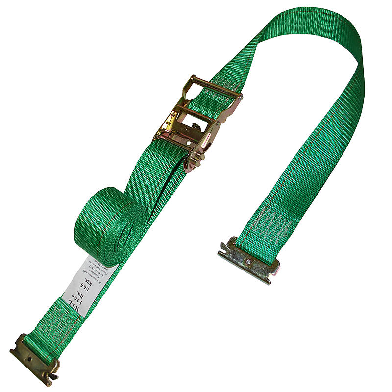 2 inch Custom Ratchet Strap with E Track Fittings Green