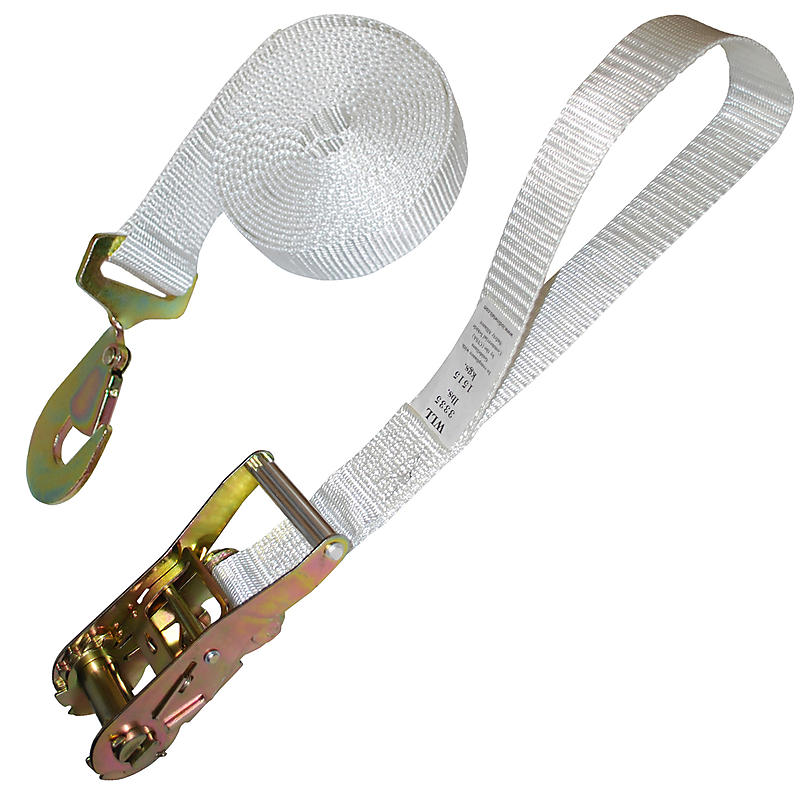"2"" Tent Ratchet Strap with Snap Hook and Loop"