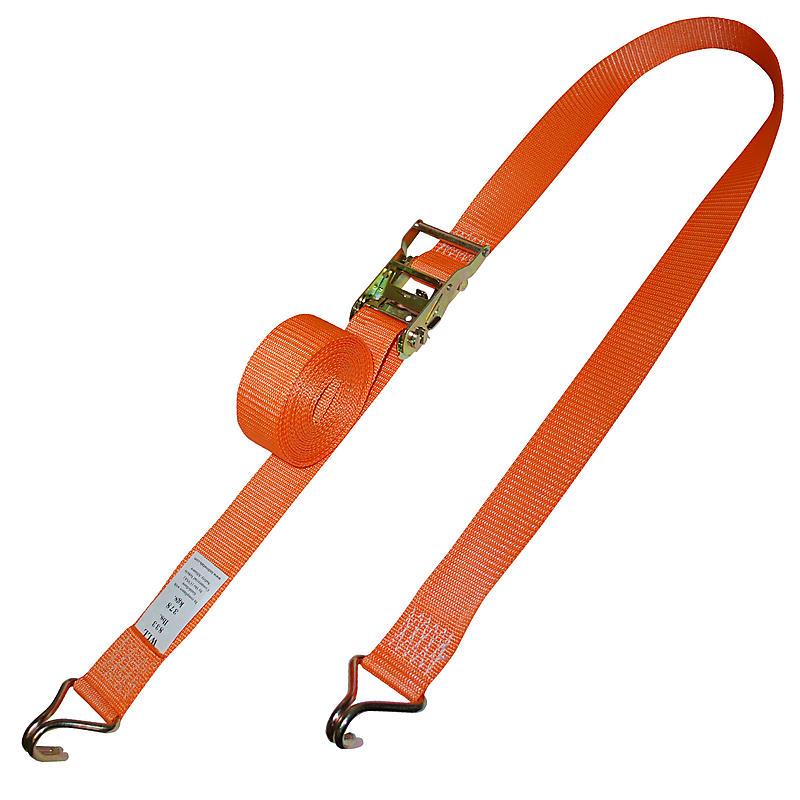 2 inch Ratchet Strap with Wire Hooks 2,500 lbs Breaking Strength | RatchetStrapsUSA