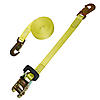 "1"" Yellow Heavy Duty Ratchet Strap w/ Flat Snap Hooks"