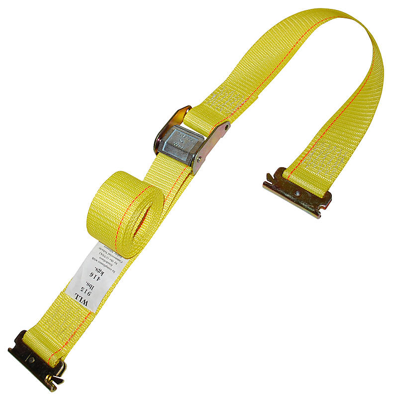 2 inch Cam Buckle Strap with E Track Fittings Yellow