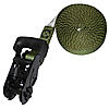 "1"" Olive Drab Heavy Duty Endless Loop Ratchet Strap with Black Rubber Handle Ratchet"