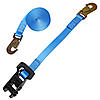 "1"" Blue Heavy Duty Rubber Handle Ratchet Strap w/Snap Hooks w/ Black Rubber Handle Ratchet"