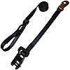 "1"" Black Heavy Duty Ratchet Strap w/Snap Hook, S-Hook, & Loop w/ Black Rubber Handle Ratchet"