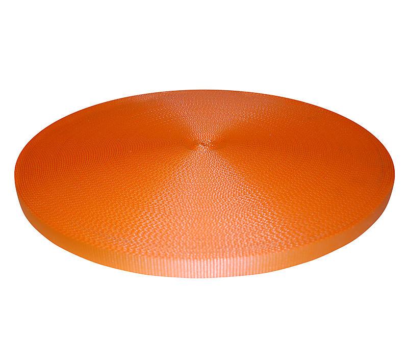 "1"" Orange Polyester Webbing 6600 lbs Breaking Strength"