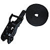 "1"" Black Heavy Duty Endless Loop Ratchet Strap w/ Black Ratchet"