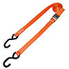 "1"" Orange Heavy Duty Cambuckle Strap w/ S Hooks"