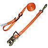 """1"""" Orange Heavy Duty Ratchet Strap w/Snap Hook, S-Hook, & Loop"""