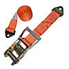 Orange 2 inch Ratchet Strap with Floor Anchor Mount | RatchetStrapUSA