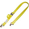 2 inch Cam Buckle Strap with Wire Hooks Yellow | RatchetStrapsUSA