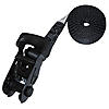 "1"" Black Heavy Duty Endless Loop Ratchet Strap w/ Black Rubber Handle Ratchet"