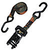 "1"" Ratchet Strap with S-Hook CAMO with Black Rubber Handle"