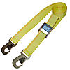 "2"" Cambuckle Strap with Flat Snap Hooks Yellow 