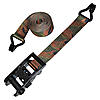 "2"" Camo Ratchet Strap with Wire Hooks Black Handle Ratchet"