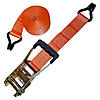 2 inch Orange Custom Ratchet Strap with Wire Hooks