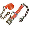 Orange 2 inch Ratchet Strap with Chain & Hook | RatchetStrapsUSA