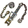 Gray 2 inch Ratchet Strap with Chain & Hook | RatchetStrapsUSA