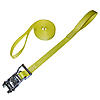 "1"" Yellow Heavy Duty Ratchet Strap w/ Loops"