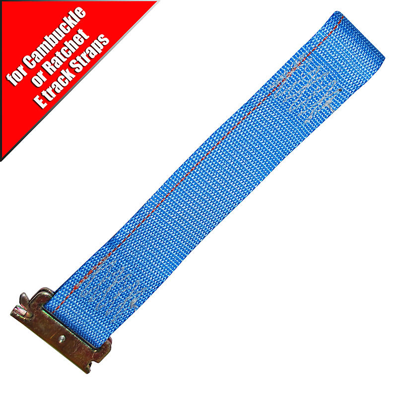 Blue 2 inch Replacement Short End for E Track Straps | RatchetStrapsUSA