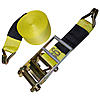 4 inch Ratchet Strap with Wire Hook Cordura Sleeve| RatchetStrapsUSA