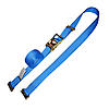 2 inch Blue Electronics Ratchet Strap with E Track Fittings | RatchetStrapsUSA
