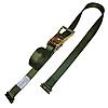 2 inch Heavy Duty Ratchet Strap with E Track Fittings Olive