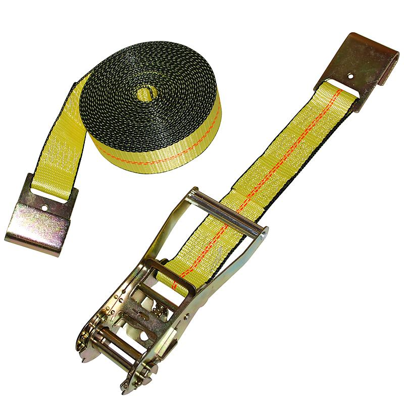 "2"" x 27' Custom USA Ratchet Strap with Flat Hooks"