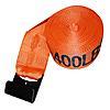 "4"" x 27' Orange Winch Strap with Flat Hook | RatchetStrapsUSA"