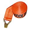 "4"" x 27' Orange Winch Strap with Wire Hook | RatchetStrapsUSA"