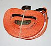 "1"" x 15' Heavy Duty Cambuckle Strap with S-Hooks - ORANGE"