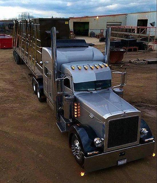 truck straps in use on semi truck