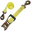 "2"" Yellow Custom Ratchet Strap with HD Flat Snap Hooks"