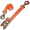 "2"" Orange Custom Ratchet Strap with HD Flat Snap Hooks"